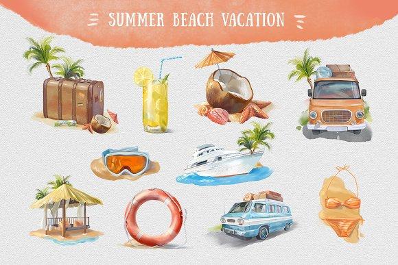 Summer Beach Clip Art.