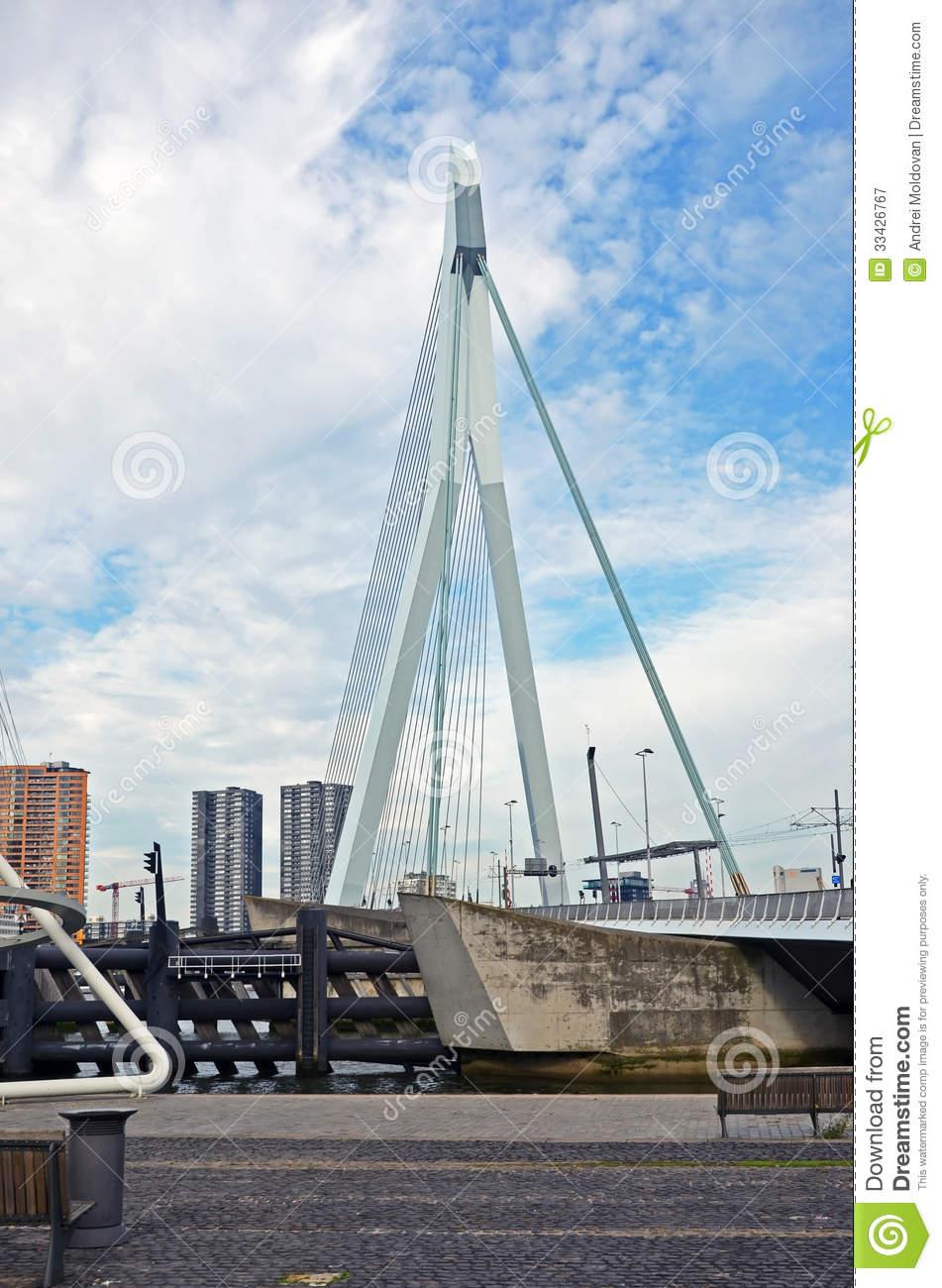 Samuel Beckett Bridge In Rotterdam, Holland Editorial Photography.