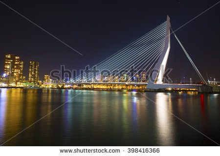 Rotterdam At Night Skyline Stock Photos, Royalty.
