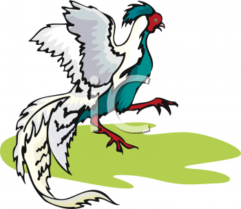 Clip Art Picture of a Modern Phoenix Chicken.