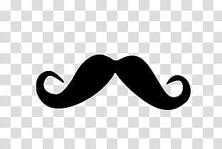 Mostachos, mustache illustration transparent background PNG.