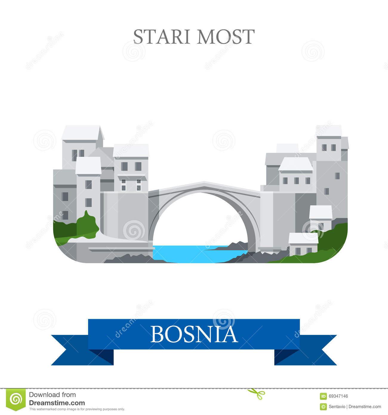 Mostar Stock Illustrations.
