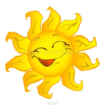 Mostly sunny clipart.