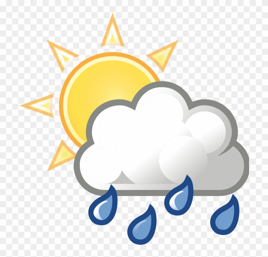 Rain Clipart Partly Cloudy.