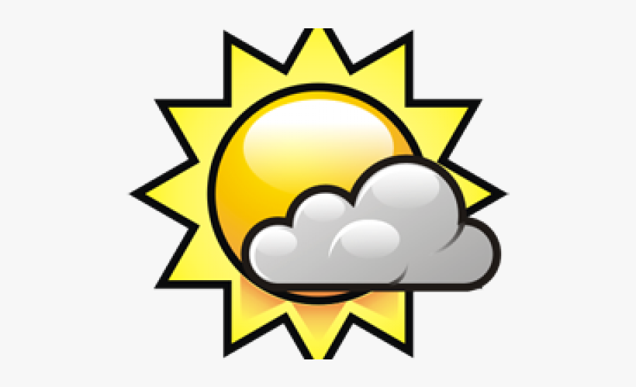 Sunny Clipart Mostly Sunny.