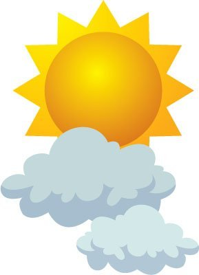 Wednesday's weather: partly sunny, chance of rain, highs in mid.