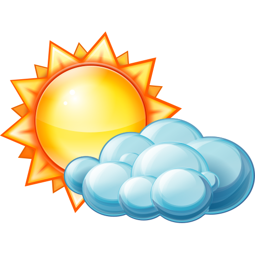 Mostly Sunny Icon at GetDrawings.com.
