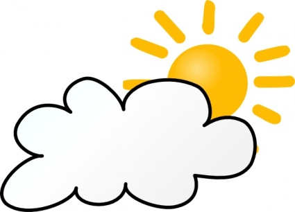 Pix For Mostly Sunny Clip Art.