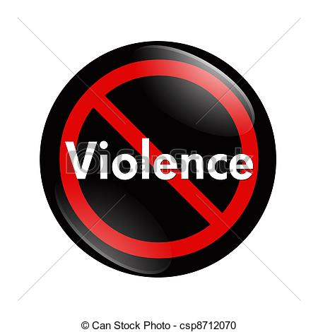 Bouton Mot Violence Isol Blanc Fond Non Violence Bouton #Bb7xu5.
