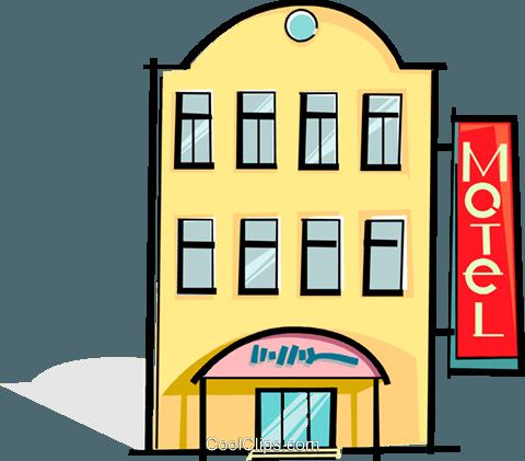 motel Royalty Free Vector Clip Art illustration.