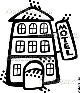 Hotels and Motels Vector Clip art.