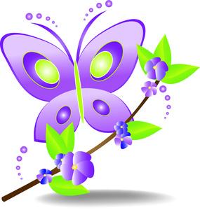Free Butterflies Clip Art Image.
