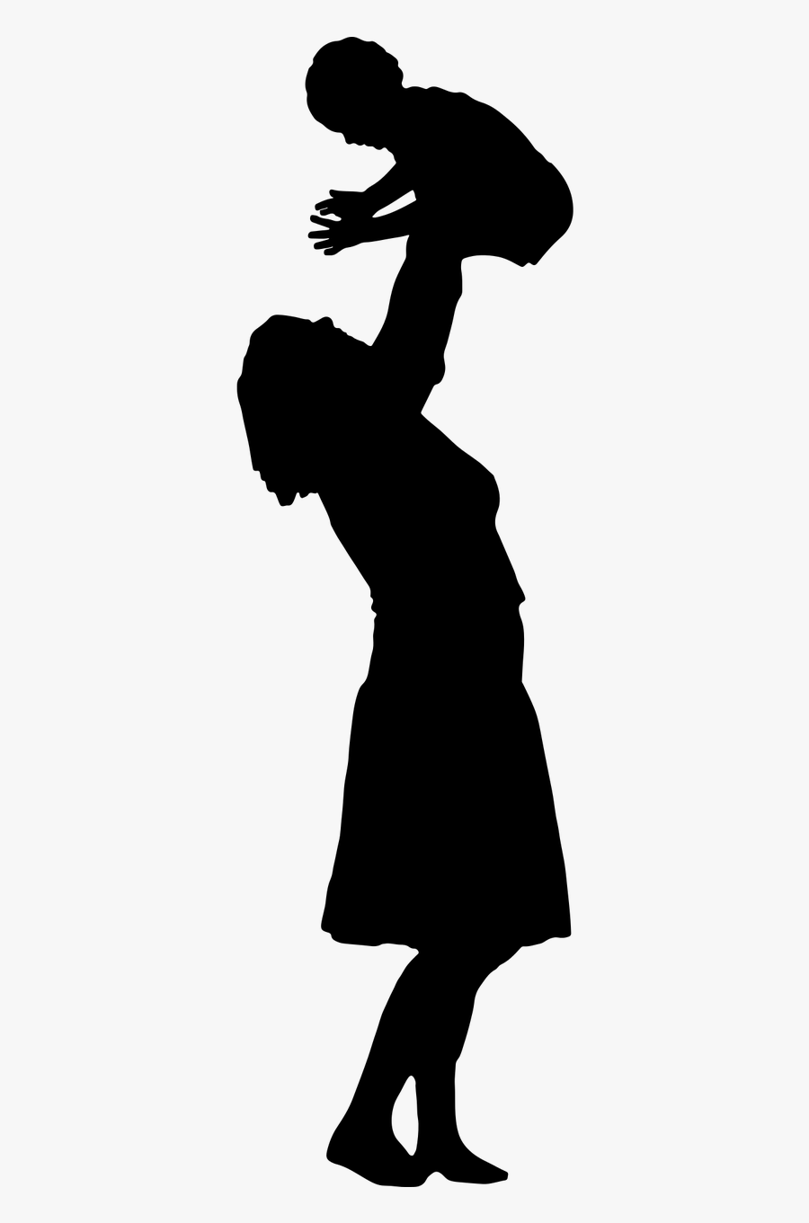 Mother Child Silhouette Clip Art.