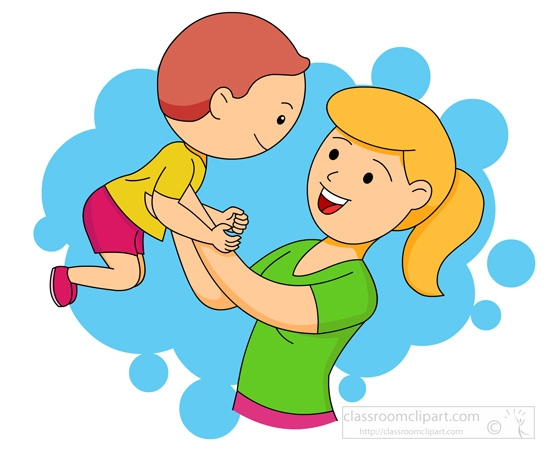 Mother And Child Playing Clipart.