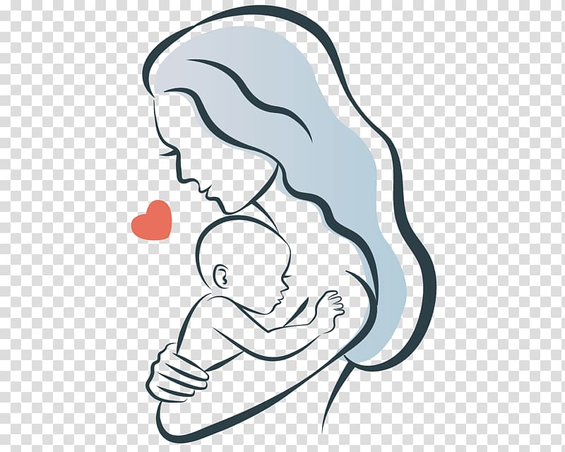 Woman carrying baby , Mother Child Infant Illustration.