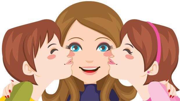 Mother And Child Hugging Clipart