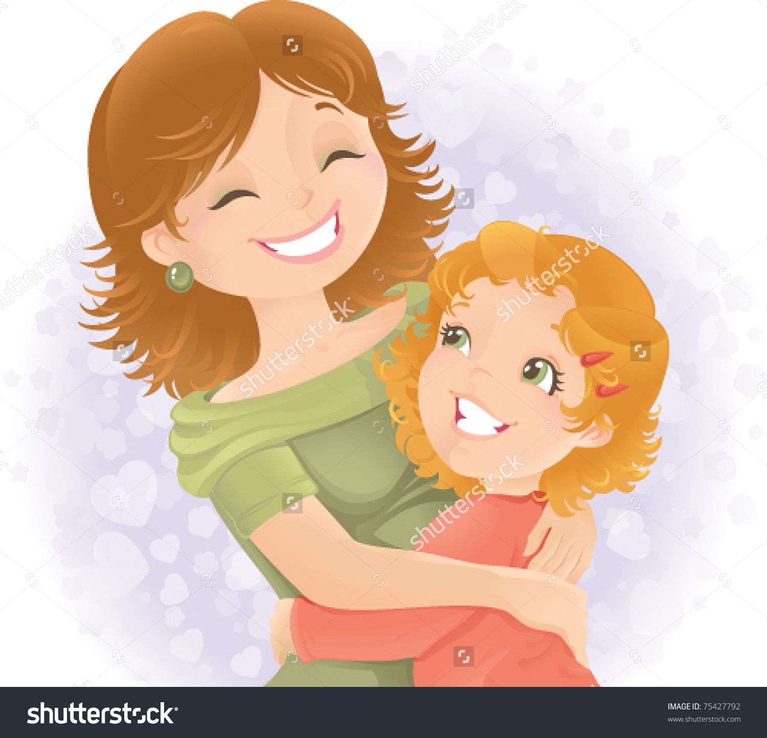 Mother Hugging Daughter Clipart 20 Free Cliparts