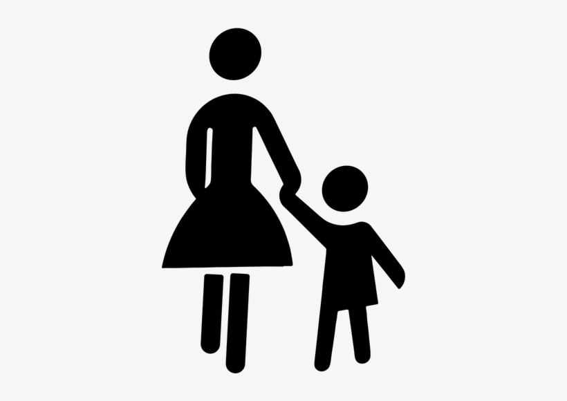 Mother Child Silhouette Clip Art Free.