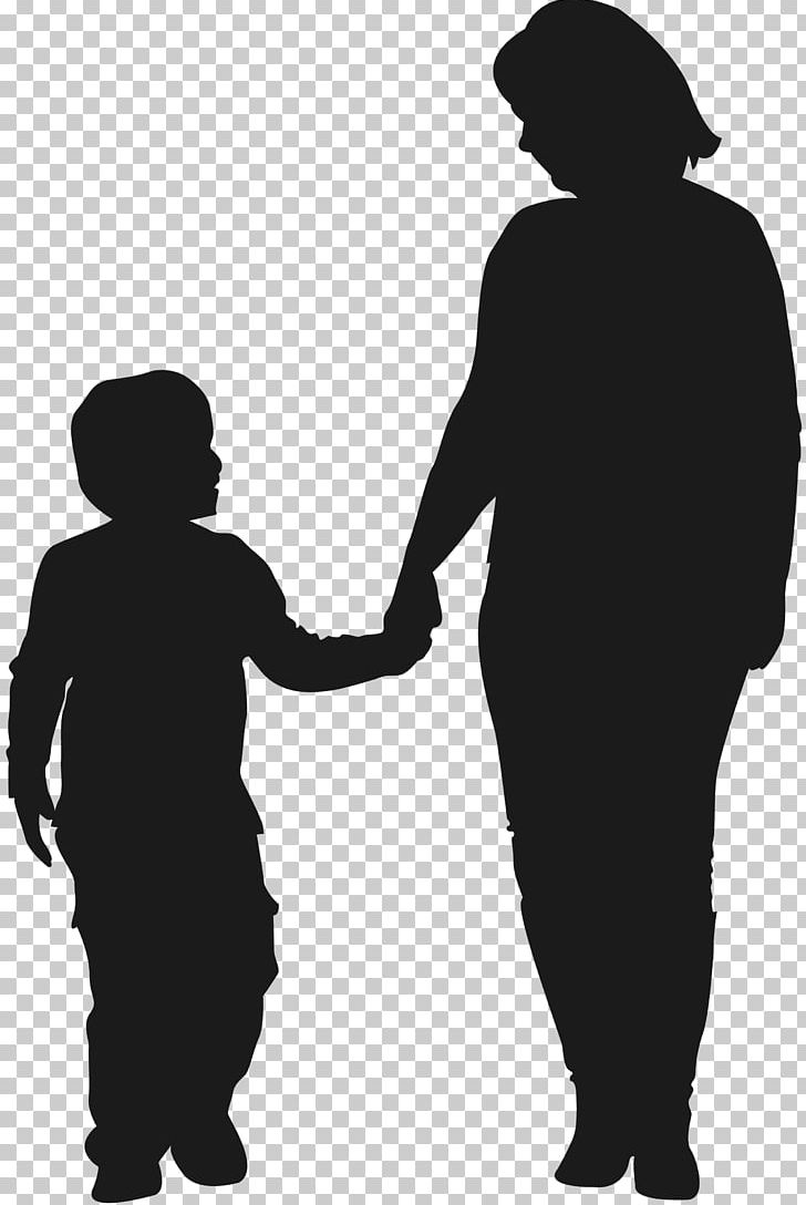 Mother Child Silhouette Son PNG, Clipart, Black And White.