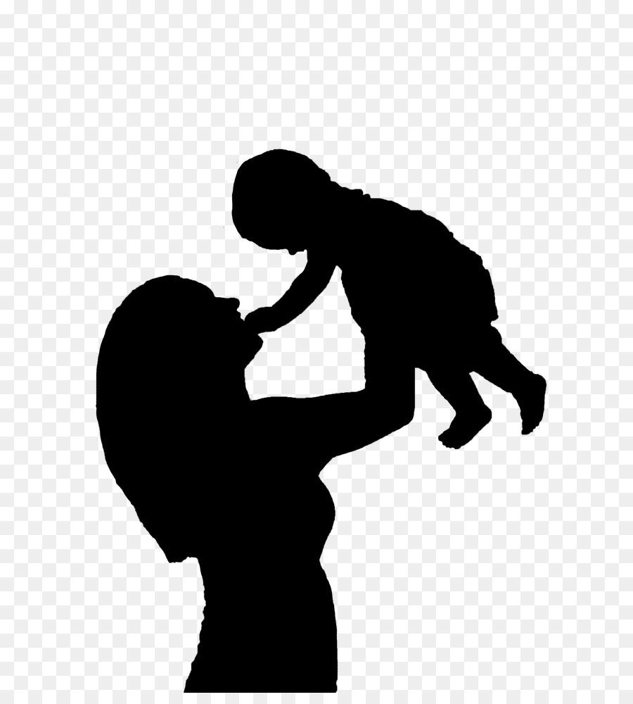 Mother Child Silhouette Clip art.