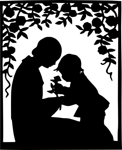 Mother And Child Silhouette clip art Free vector in Open.