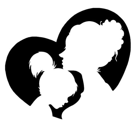 Mother And Child Silhouette Clip Art Free.