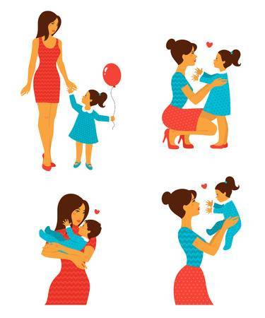 Mother with children clipart » Clipart Portal.