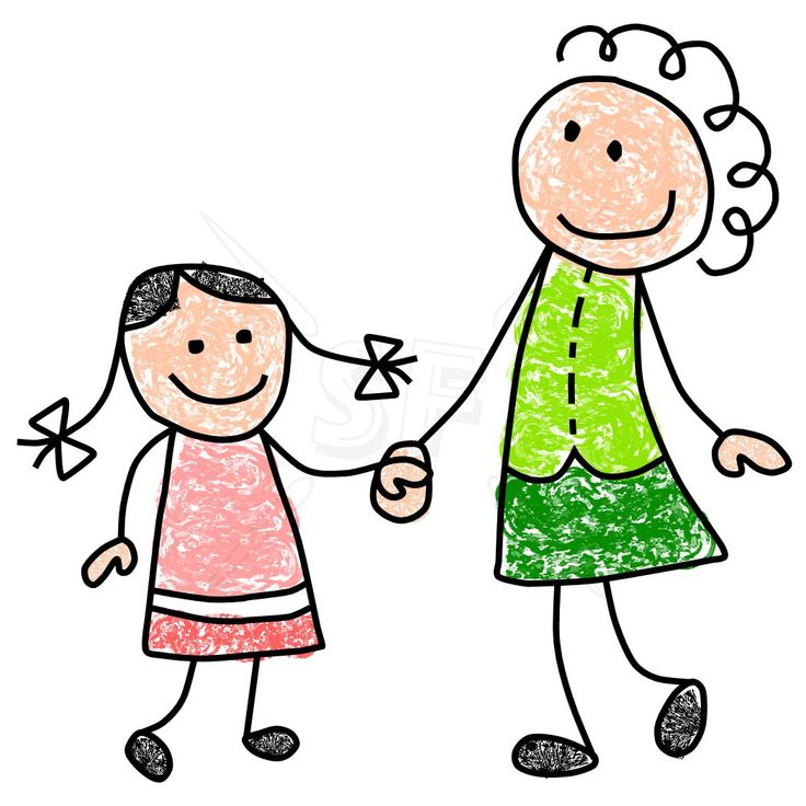 Mother and daughter clipart 9 » Clipart Station.