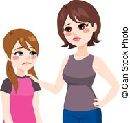 Mother And Child Talking Clipart.