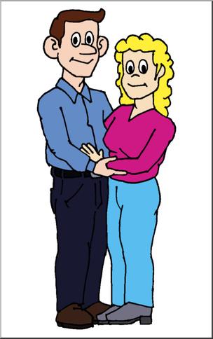 Clip Art: Family: Mother & Father Color I abcteach.com.