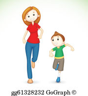 Mother And Son Clip Art.
