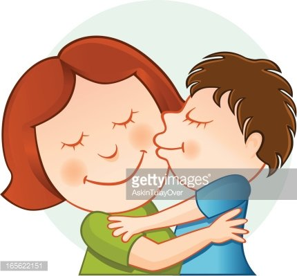 Mother and Son premium clipart.