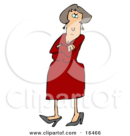Mother arms crossed clipart.