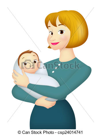 Drawing of Mother With Baby.