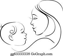 Mother Baby Clip Art.