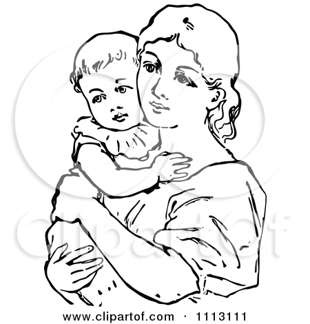 mother baby clipart free - Clipground