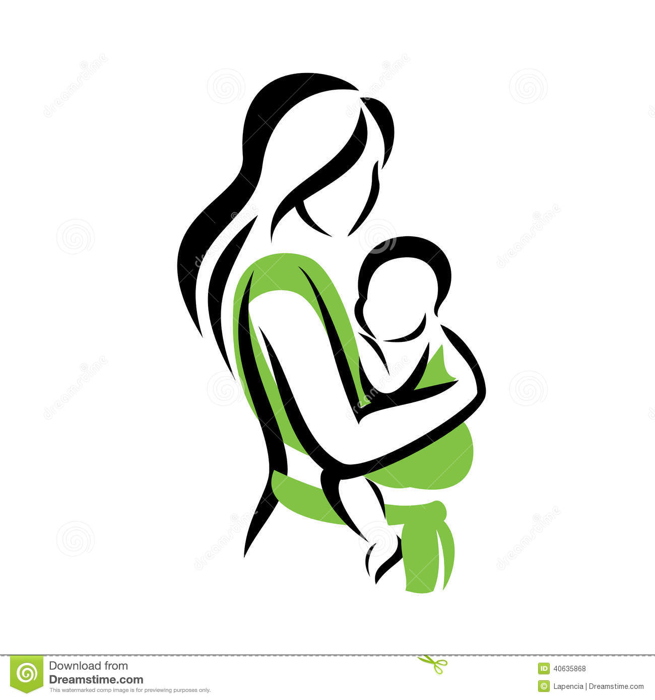 Mother Baby Clipart Free Clipground