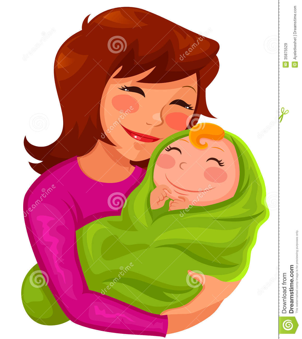 Mother And Baby Clipart.