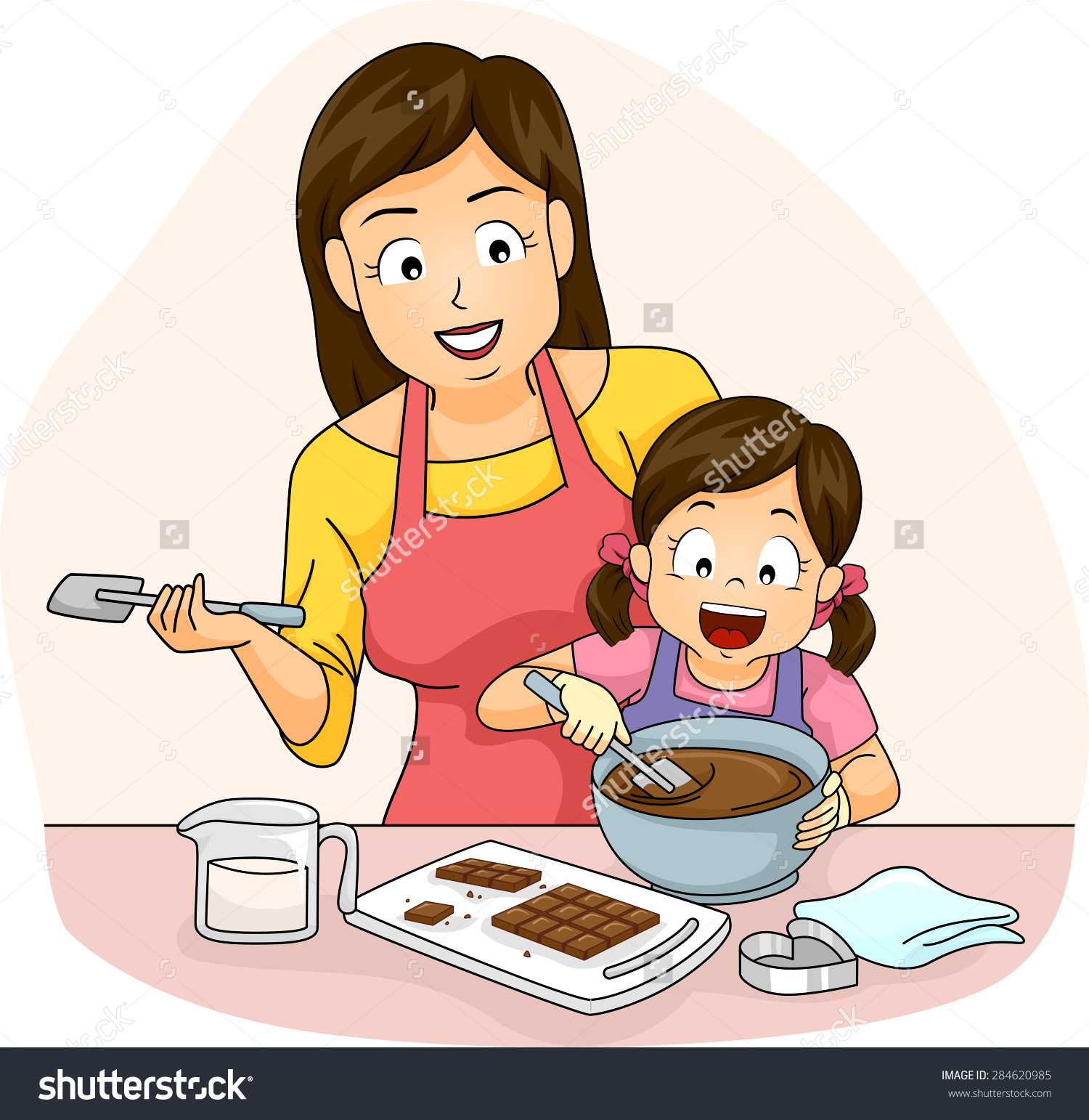 mother baking clipart clipground