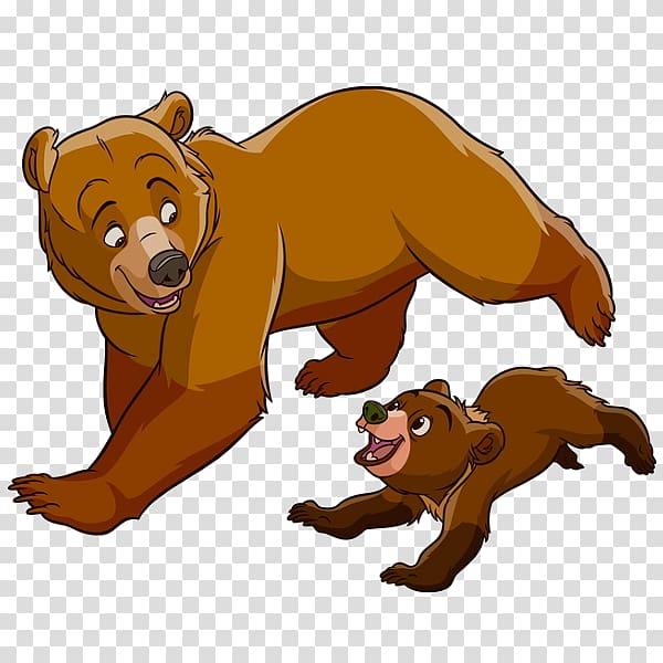 Bear , Brother Bear Koda Animation , Mother Bear transparent.