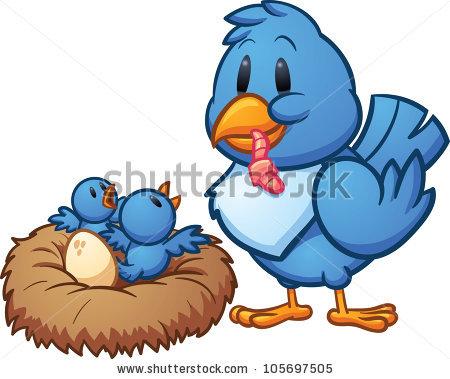 Bird Feeding Baby Stock Vectors, Images & Vector Art.