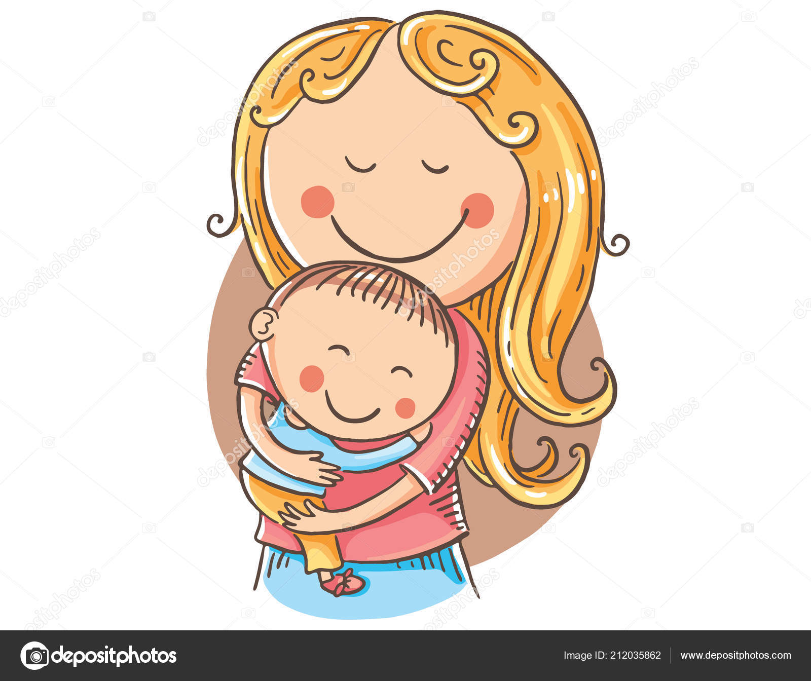 Clipart: mother and child.
