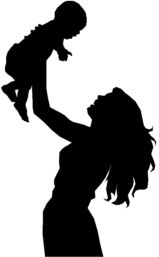 Mother Silhouette Clipart#1955671.