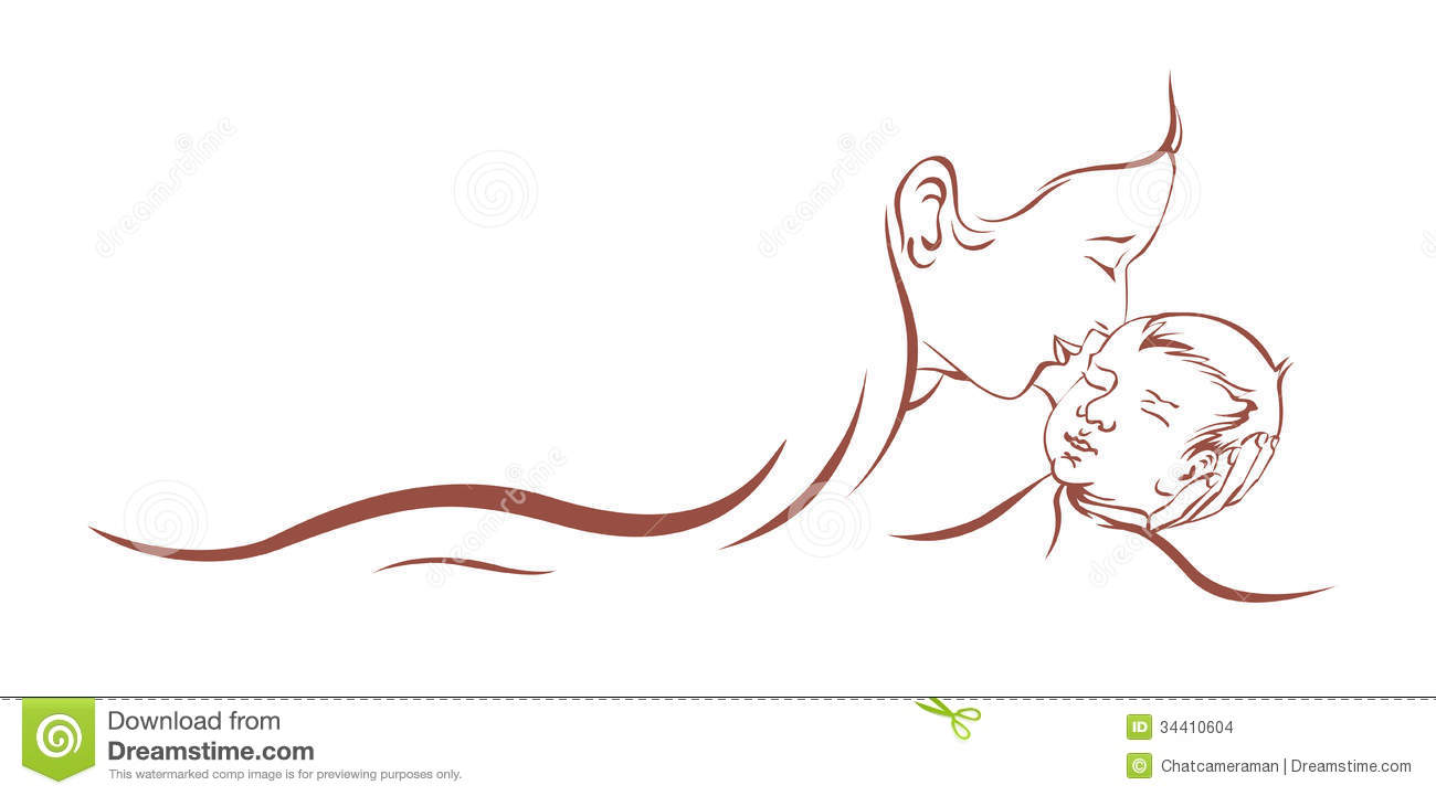 Mother Care Child Stock Images.