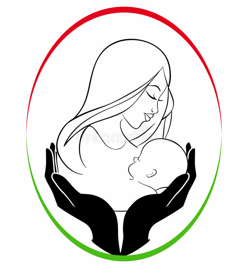 Mother Child Care Stock Illustrations.
