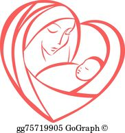 Mother And Child Clip Art.