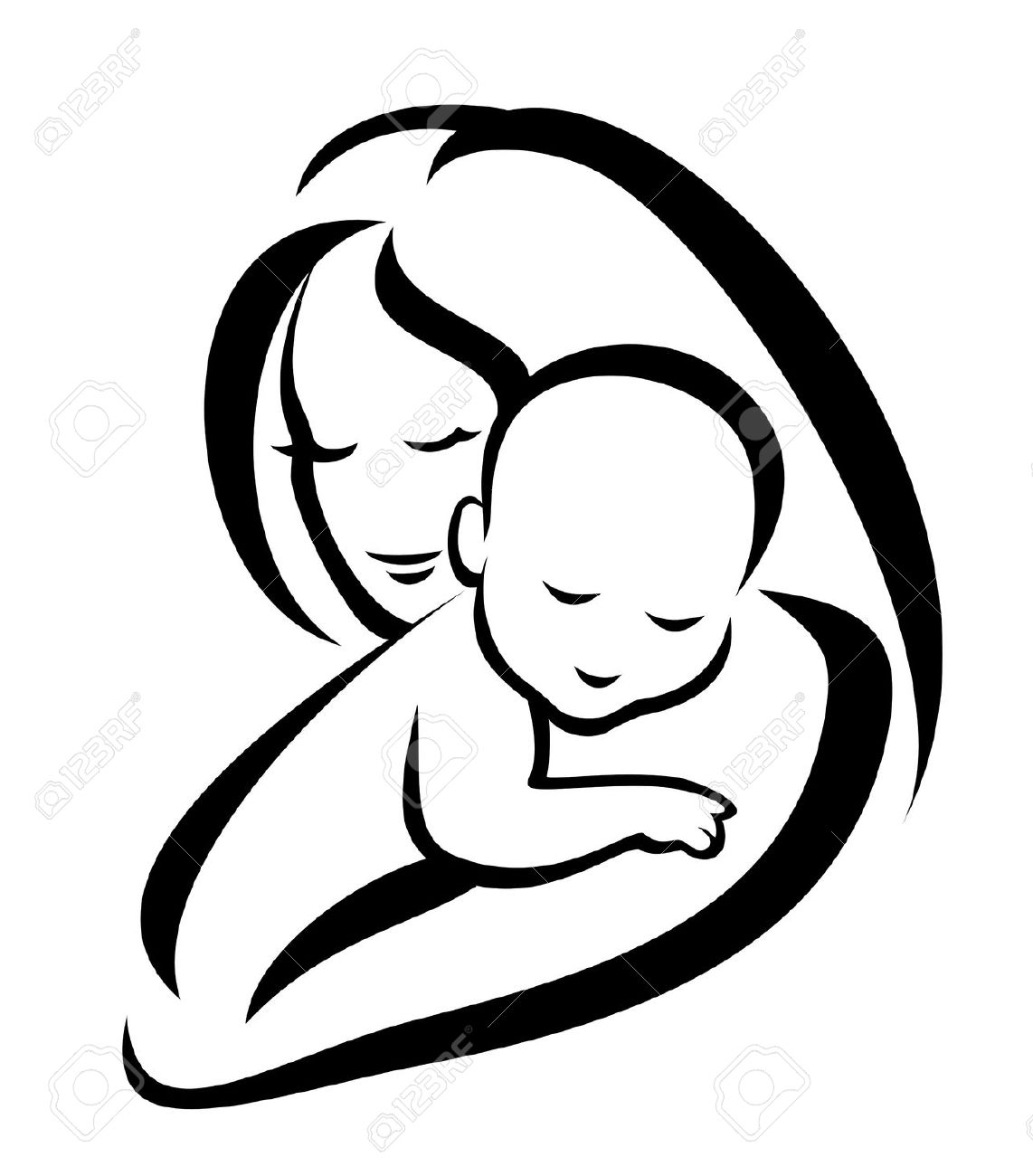Library of free image free library mother child png files.