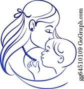 Mother Child Clip Art.