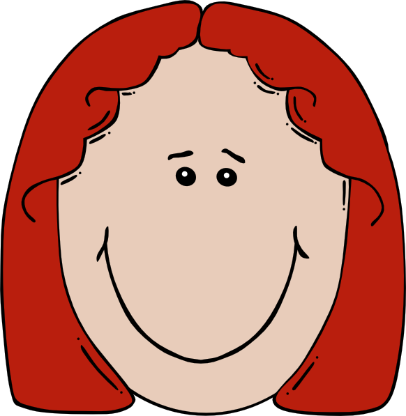 Cartoon Woman Face.