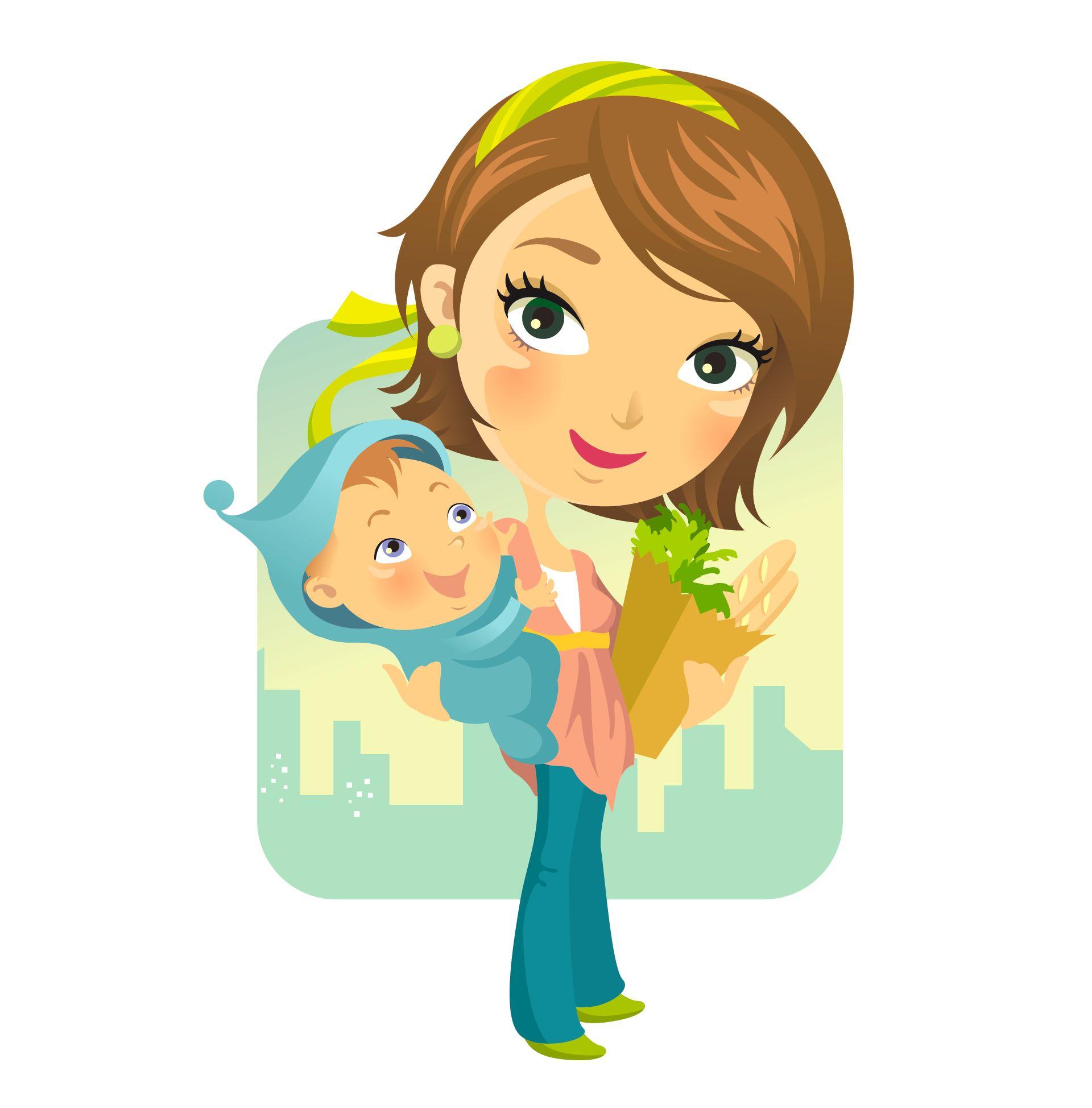 Cartoon Mother.